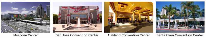 JP Graphics provides tradeshow printing services at these convention centers in Silicon Valley