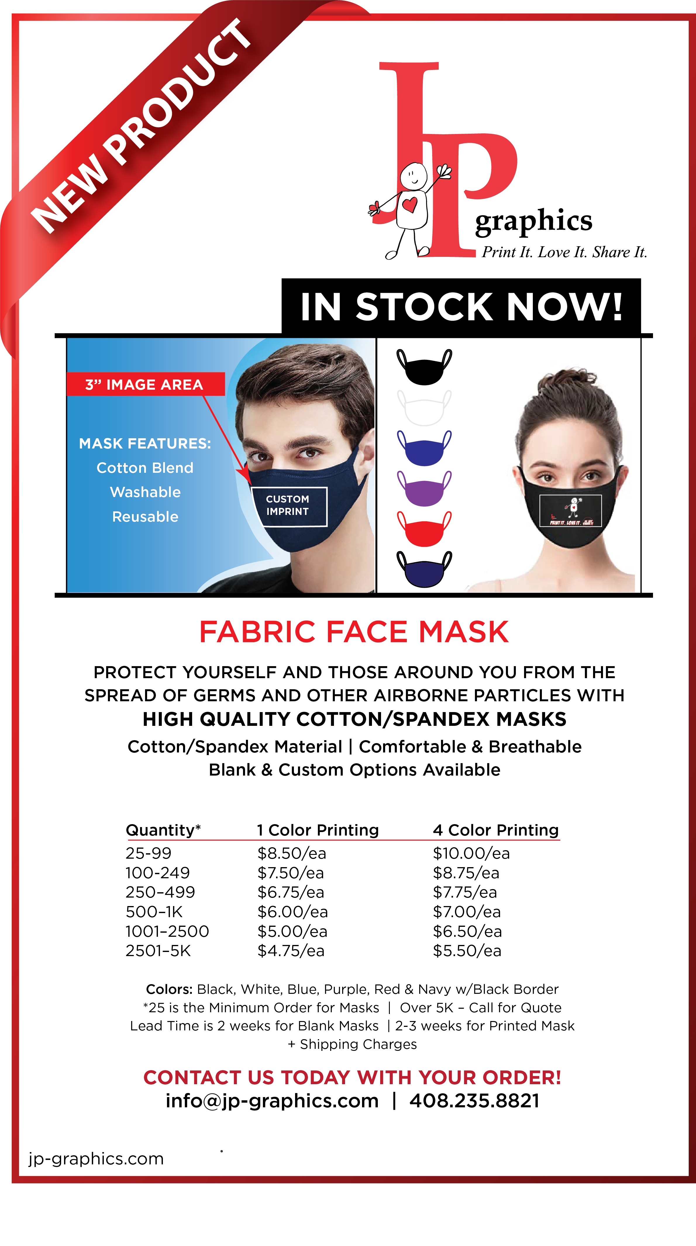 Face Masks at JP Graphics